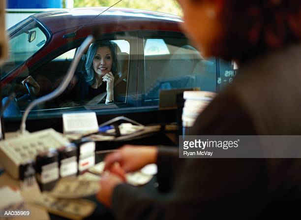 drive through bank teller - cashier stock pictures, royalty-free photos & images