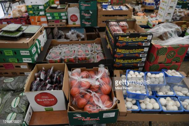 A drive through farm shop has been opened at Tulley's Farm on April 03 2020 in Turners Hill England The Coronavirus pandemic has spread to many...