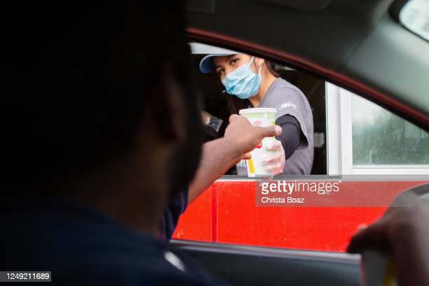 drive thru - mcdonald's stock pictures, royalty-free photos & images