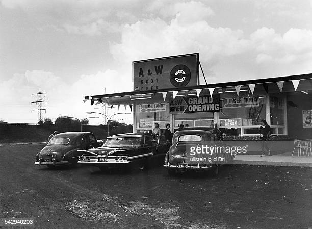 DriveInRestaurant der Firma A W Root Beer in Mannheim Viernheim das erste DriveIn Restaurant in Deutschland 1962