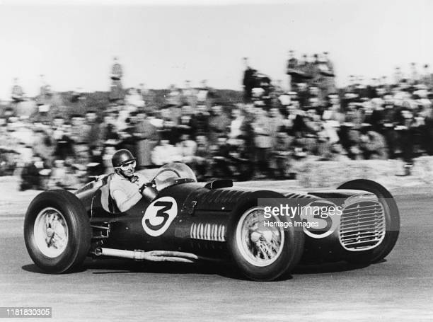 V16 driven by Fangio at Silverstone Creator Unknown