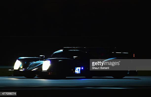 KCMG driven by Matthew Howson Richard Bradley and Nicolas Lapierre during the Le Mans 24 Hour race at the Circuit de la Sarthe on June 13 2015 in Le...