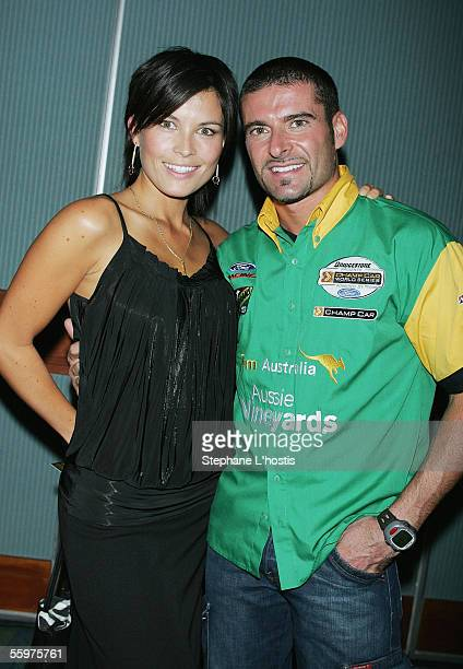 Driver Alex Tagliani and his wife Bronte attend the Premier's Official Lexmark 300 Welcome Reception at The Jupiters Casino October 20 2005 on the...