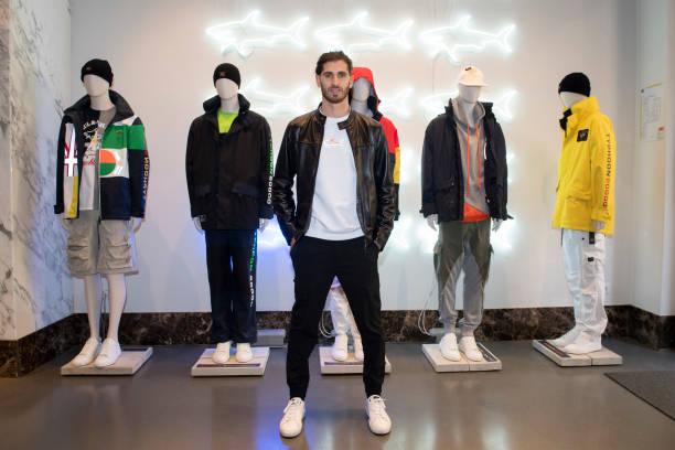 ITA: Antonio Giovinazzi Visits Paul & Shark Store In Milan