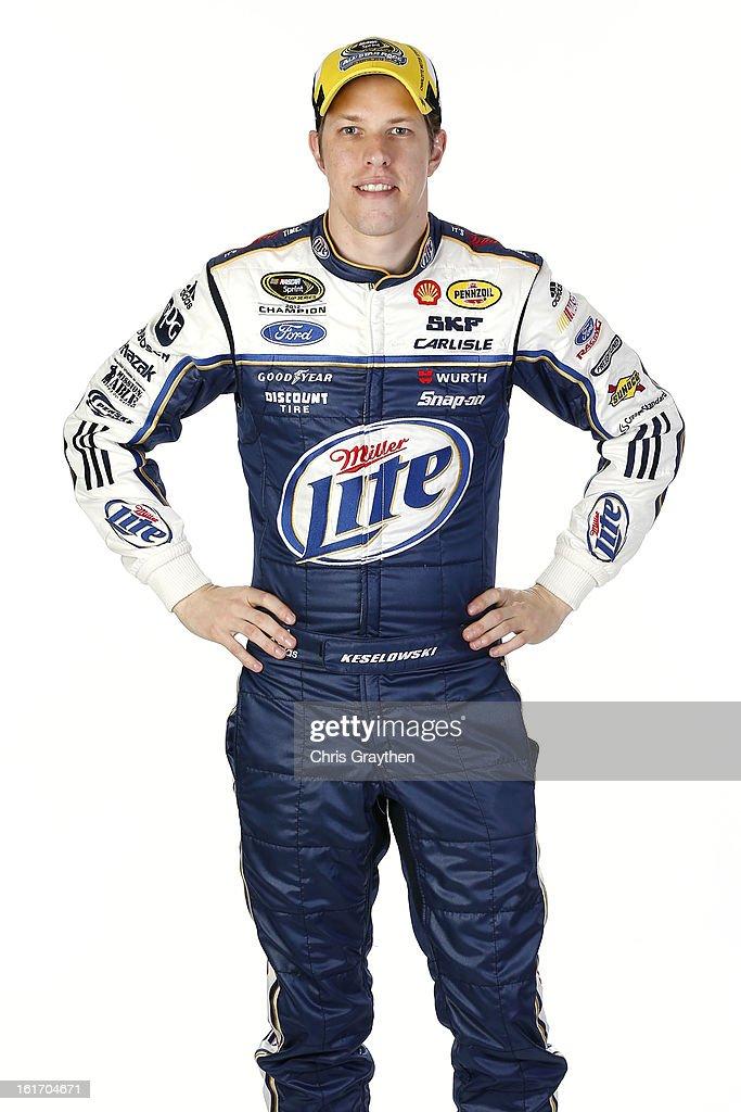 Driver Brad Keselowski poses during portraits for the 2013 NASCAR Sprint Cup Series at Daytona International Speedway on February 14, 2013 in Daytona Beach, Florida.