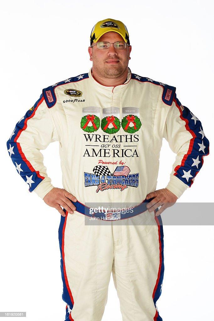 Driver Brian Keselowski poses during portraits for the 2013 NASCAR Sprint Cup Series at Daytona International Speedway on February 17, 2013 in Daytona Beach, Florida.