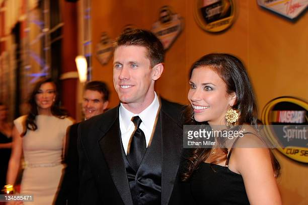 Driver Carl Edwards and his wife Dr Kate Edwards attend the NASCAR Sprint Cup Series Champion's Week Awards Ceremony at Wynn Las Vegas on December 2...