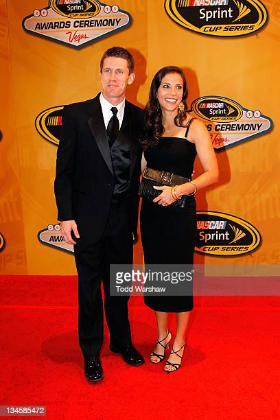 Driver Carl Edwards and his wife Kate attend the NASCAR Sprint Cup Series Champion's Week Awards Ceremony at Wynn Las Vegas on December 2 2011 in Las...