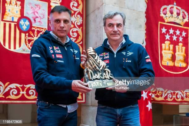Driver Carlos Sainz reception of the winners Rally Dakar in Madrid on Thursday 23 January 2020 Spain