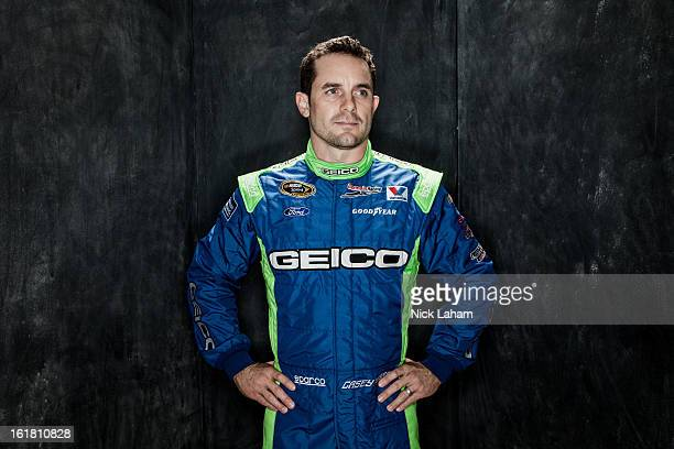 Driver Casey Mears poses during portraits for the 2013 NASCAR Sprint Cup Series at Daytona International Speedway on February 14 2013 in Daytona...