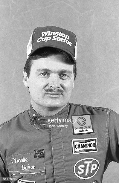 Driver Charlie Baker poses for a portrait before the Daytona 500 race on February 19 1989 at the Daytona International Speedway in Daytona Beach...