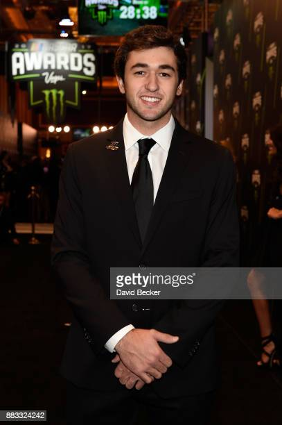 Driver Chase Elliott attends the Monster Energy NASCAR Cup Series awards at Wynn Las Vegas on November 30 2017 in Las Vegas Nevada