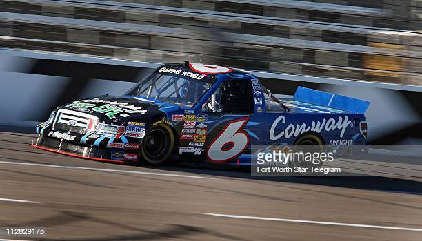 Driver Colin Braun takes laps durnig the practice session before the NCWTS 7Eleven Qualifying at the Texas Motor Speedway in Fort Worth Texas...