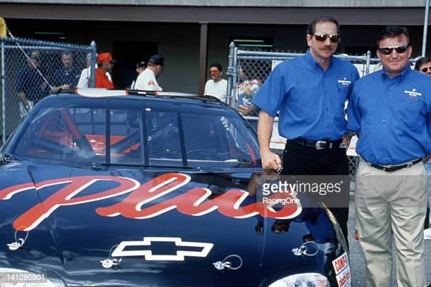 Driver Dale Earnhardt and car owner Richard Childress with the GM Goodwrench Plus Chevrolet Monte Carlo as they prepare to embark on the new NASCAR...