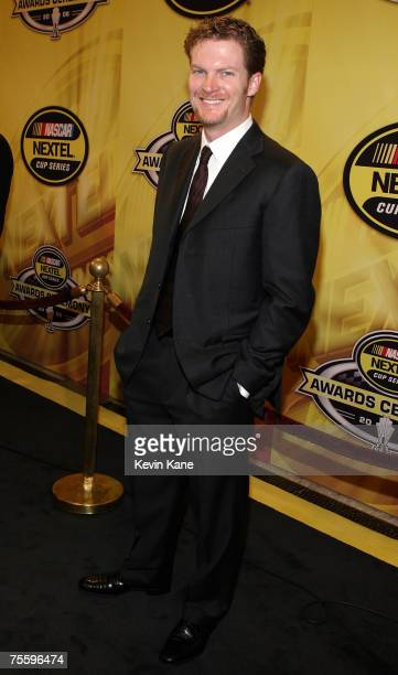 Driver Dale Earnhardt Jr arrives at the 2006 NASCAR nextel Cup Series Awards Banque held in the main Ballroom of the Waldorf Astoria Hotel in Ney...