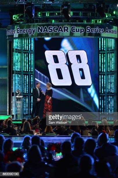NASCAR driver Dale Earnhardt Jr attends the Monster Energy NASCAR Cup Series awards at Wynn Las Vegas on November 30 2017 in Las Vegas Nevada