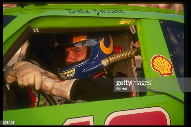 NASCAR driver Dale Jarrett in his Joe Gibbs Racing Chevrolet during a race Mandatory Credit Bill Hall /Allsport