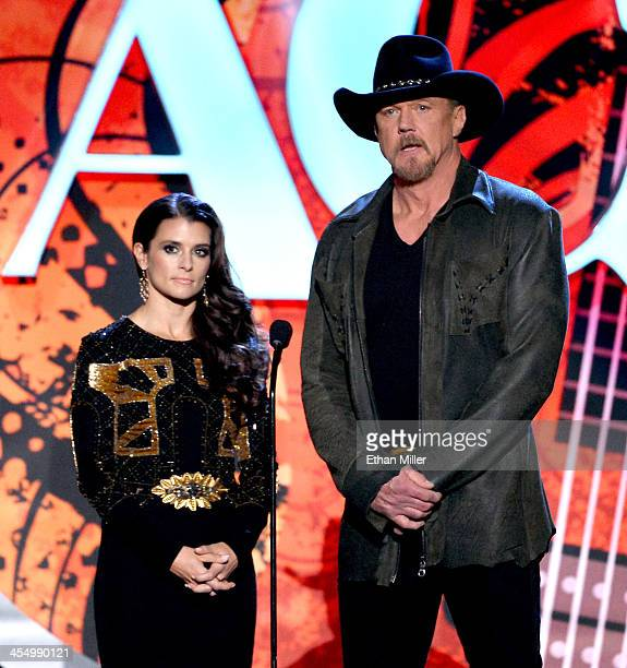 Driver Danica Patrick and singer Trace Adkins co-host the American Country Awards 2013 at the Mandalay Bay Events Center on December 10, 2013 in Las...