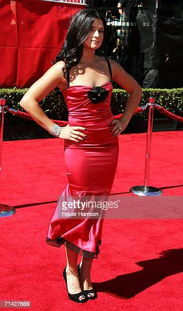 IRL driver Danica Patrick arrives at the 2006 ESPY Awards at the Kodak Theatre on July 12 2006 in Hollywood California