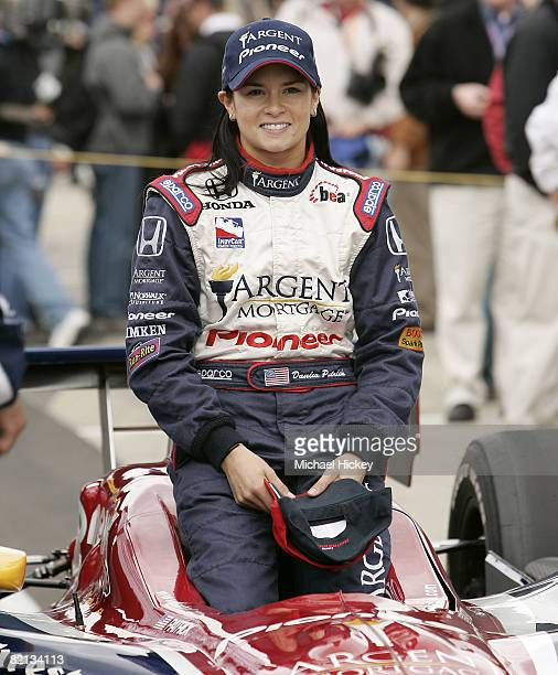 IRL driver Danica Patrick poses for her official photo after qualifying for the Indy 500
