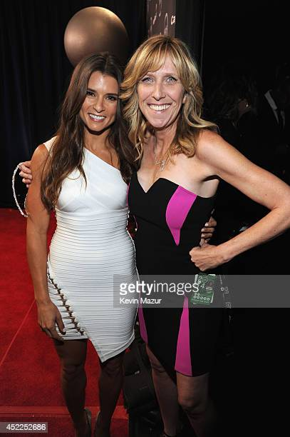 Driver Danica Patrick with Maura Mandt at The 2014 ESPY Awards at Nokia Theatre LA Live on July 16 2014 in Los Angeles California