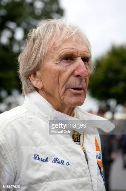 Driver Derek Bell at Goodwood on September 8th 2017 in Chichester England