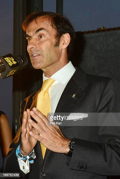 Driver Emmanuel Pirro attends the '24 heures Du Mans' 90th Anniversary At Le Georges on May 31 2013 in Paris France
