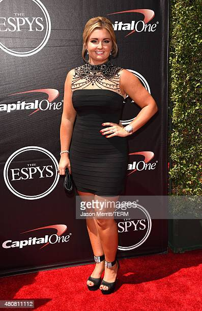 Driver Erica EndersStevens attends The 2015 ESPYS at Microsoft Theater on July 15 2015 in Los Angeles California
