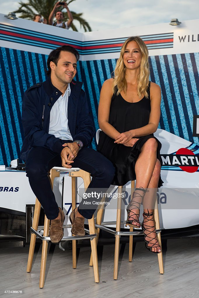 RACING driver Felipe Massa and Bar Refaeli at Terrazza MARTINI as she is announced as the global MARTINI Race ambassador. The VIP party kicked off the European Formula One season in MARTINI style at Port Vell, Barcelona on Thursday 7 May 2015. Terrazza MARTINI is open throughout the Spanish Grand Prix weekend.