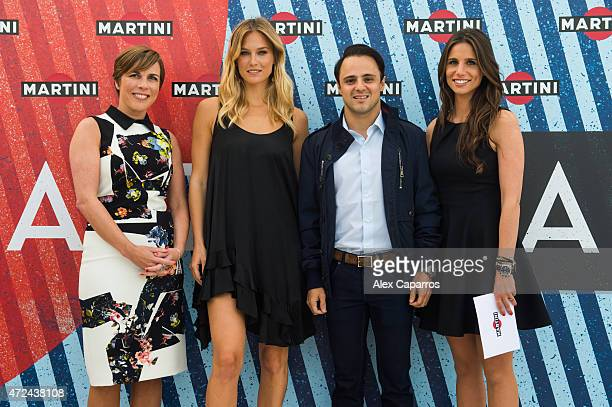 RACING driver Felipe Massa Spanish sports presenter Lucia Villalon and Williams Deputy Team Principle and Commercial Director Claire Williams join...