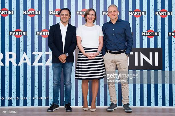 RACING driver Felipe Massa Williams Deputy Team Principal and Commercial Director Claire Williams and WILLIAMS MARTINI RACING driver Valtteri Bottas...