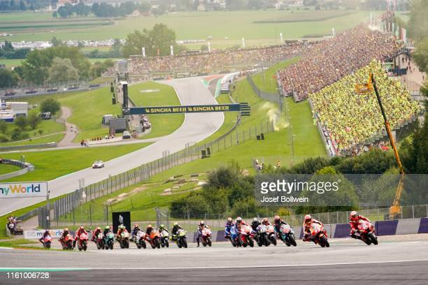 driver field during the MotoGp of Austria Race at Red Bull Ring on August 11 2019 in Spielberg Austria