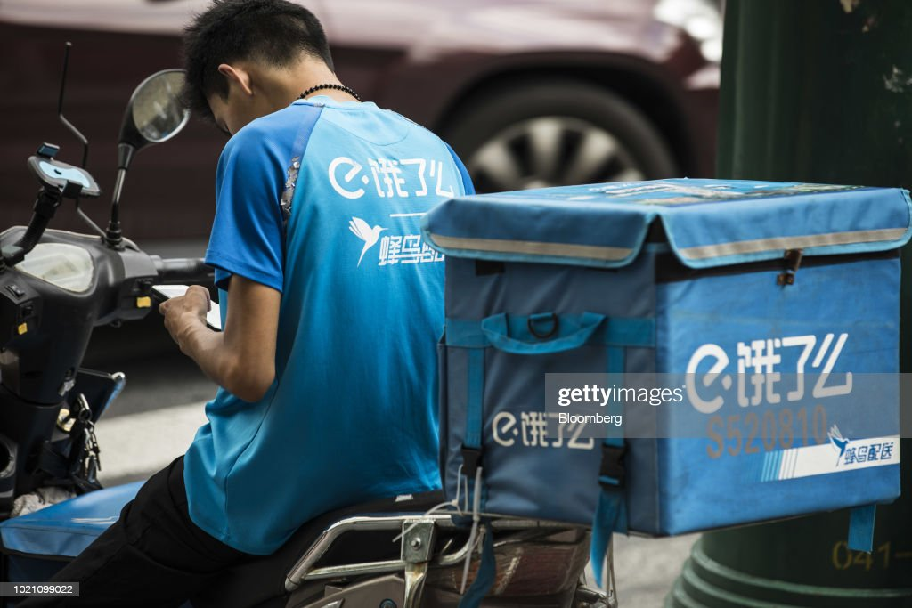 Ele.me Food Delivery Couriers Ahead of Alibaba Earnings Results