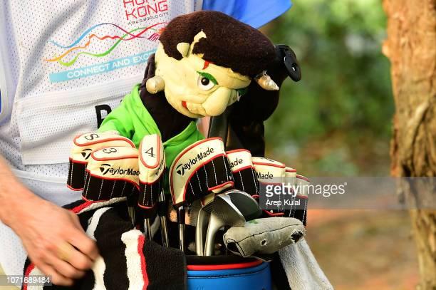 Driver head cover of Aaron Rai during round three of the Honma Hong Kong Open at The Hong Kong Golf Club on November 24, 2018 in Hong Kong.