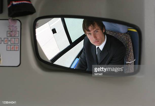 Driver in the mirror
