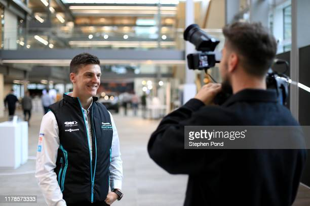 Driver James Calado during the Panasonic Jaguar Racing Season 6 Launch on October 02 2019 in Gaydon England