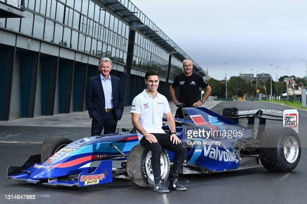 Driver James Golding, Craig Fletcher, Australian Grand Prix Corporation, General Manager of Motorsport, Entertainment and Industry and Barry Rogers...