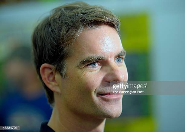 NASCAR driver Jeff Gordon is show n being interviewed at the Dogfish Head Brewery as he makes a PR stop in in Milton DE August 20 2014