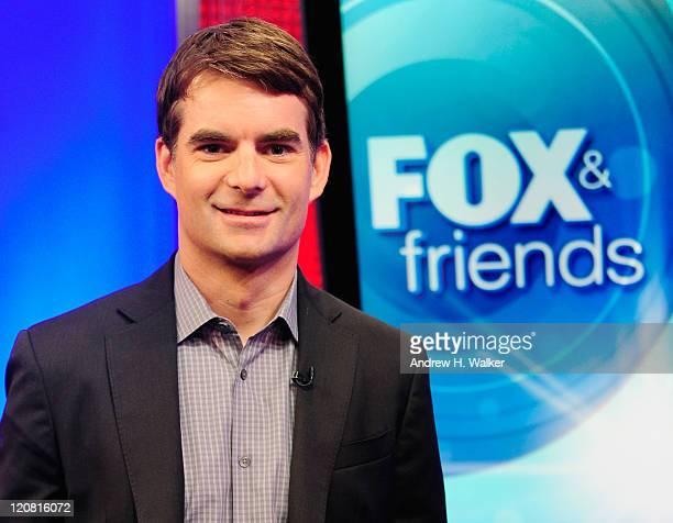 NASCAR driver Jeff Gordon visits 'FOX Friends' at FOX Studios on August 11 2011 in New York City
