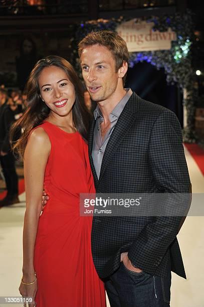 F1 driver Jenson Button and girlffriend Jessica Michibata attend 'The Twilight Saga Breaking Dawn Part 1' UK Premiere at Westfield Stratford City on...
