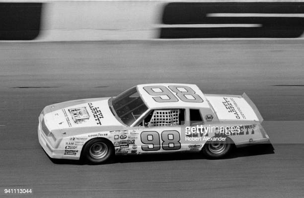 NASCAR driver Joe Ruttman leads the field during the running of the 1983 Daytona 500 stock car race at Daytona International Speedway in Daytona...