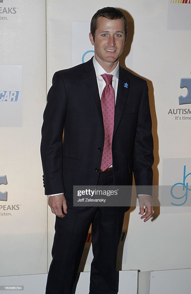 NASCAR driver Kasey Kahne arrives at 'Speeding For A Cure', a gala to benefit Autism Speaks held at the Metropolitan Museum of Art on March 12, 2013 in New York City.