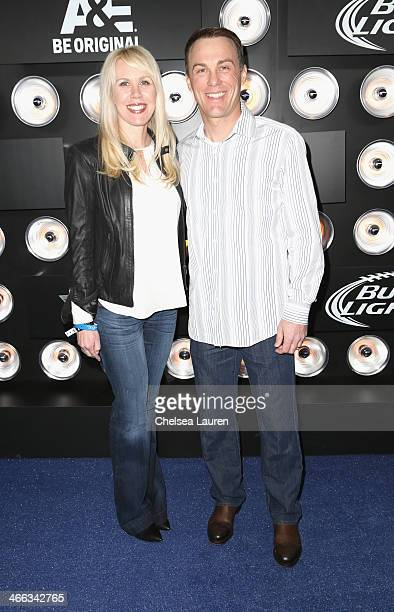 Driver Kevin Harvick and DeLana Harvick attend The Playboy Party at The Bud Light Hotel Lounge, on Friday, January 31, 2014 in New York City.