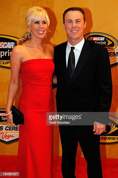 Driver Kevin Harvick and his wife DeLana attend the NASCAR Sprint Cup Series Champion's Week Awards Ceremony at Wynn Las Vegas on December 2 2011 in...