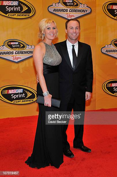 NASCAR driver Kevin Harvick arrives with his wife DeLana at the NASCAR Sprint Cup Series awards banquet at the Wynn Las Vegas Hotel on December 3...