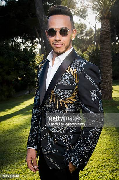 Driver Lewis Hamilton attends the amfAR's 23rd Cinema Against AIDS Gala at Hotel du CapEdenRoc on May 19 2016 in Cap d'Antibes France