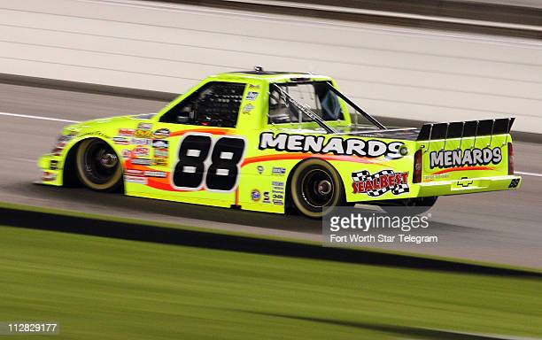 Driver Matt Crafton wins the pole position during the NCWTS 7Eleven Qualifying at the Texas Motor Speedway in Fort Worth Texas Thursday November 5...
