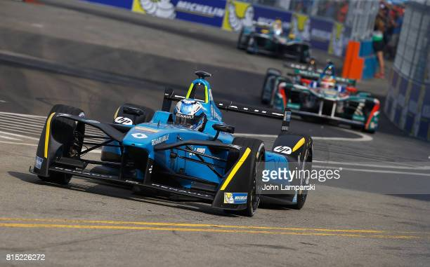 Driver Nico Prost of Renault E Dams on track during the Formula E Qualcomm New York City ePrix on July 15 2017 in New York City