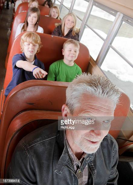 Driver on a School Bus