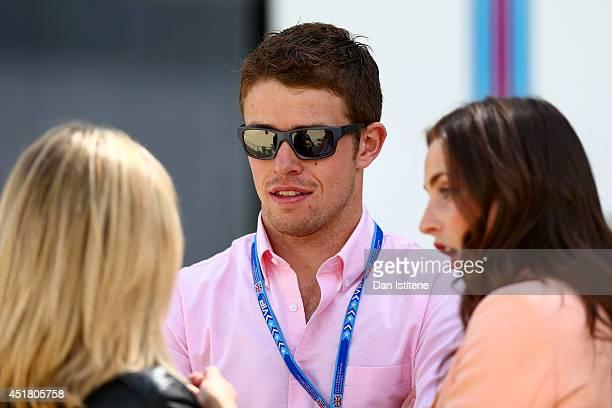 Driver Paul di Resta attends the British Formula One Grand Prix at Silverstone Circuit on July 6, 2014 in Northampton, United Kingdom.